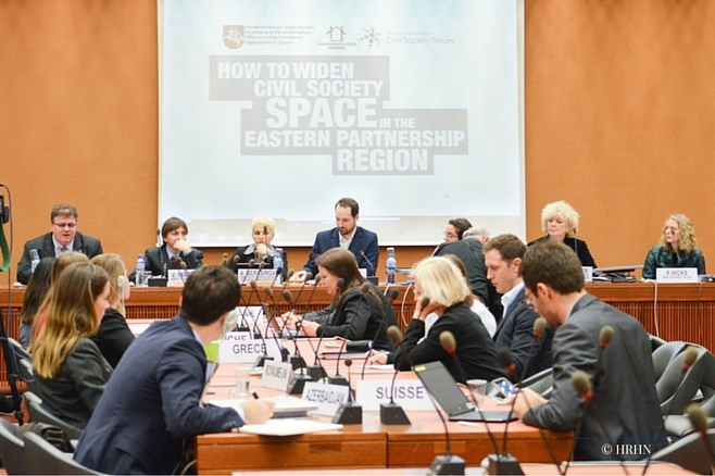 EaP CSF Participates in a Side Event on Civil Society Space in EaP at the 31st session of the Human Rights Council in Geneva