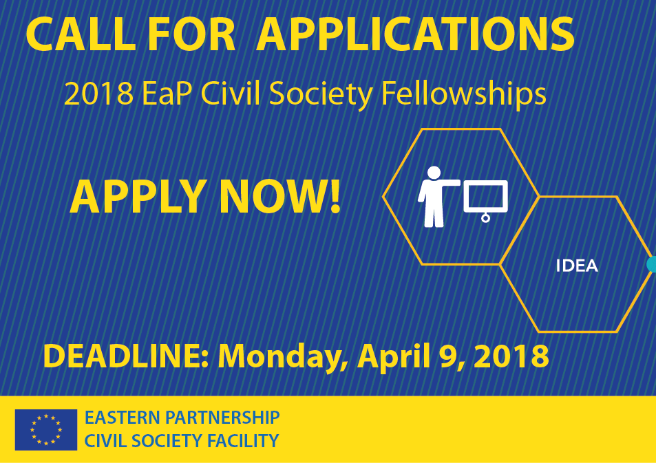 Call for Applications under 2018 EaP Civil Society Fellowships: Supporting Young Civil Society Leaders in Eastern Partnership Countries
