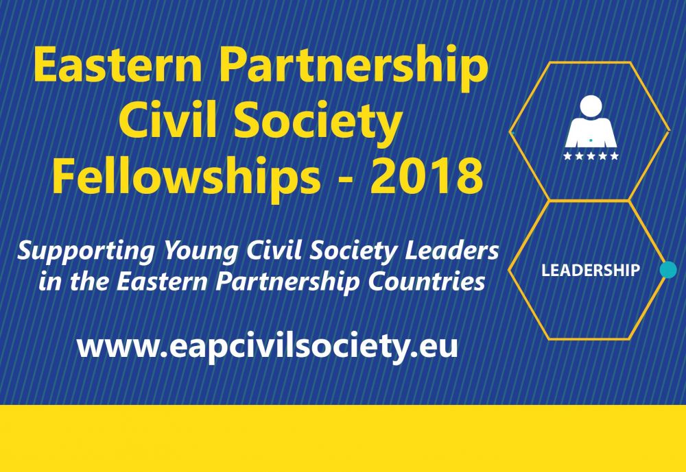 New Round of EU Fellowships to Support Young Civil Society Leaders in the Eastern Partnership Countries: Names of 20 Fellows-2018 Announced