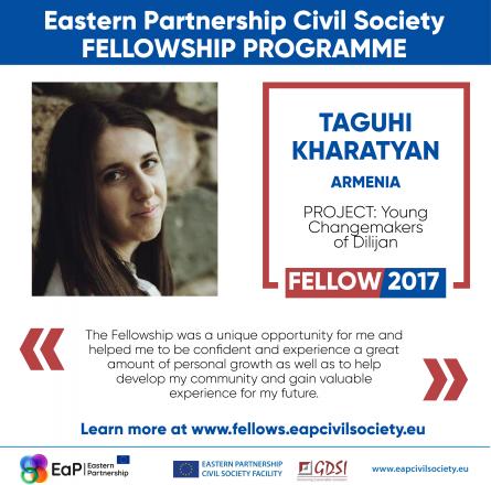 My Way To Leadership: by Taguhi Kharatyan, Civil Society Fellow from Armenia