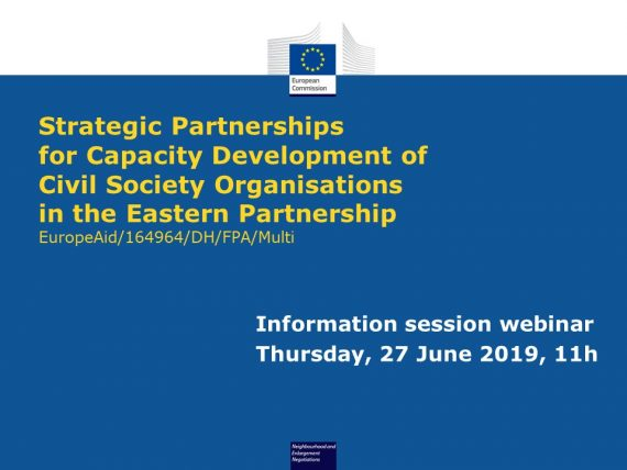 "Watch the Webinar of the Information Session for the Call for Proposals ""Strategic Partnerships for Capacity Development of CSOs in the EaP"""