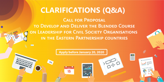 Clarifications (Q&A) on the Call for Proposals to Develop and Deliver a Blended Course on the Leadership for Civil Society Organisations Available