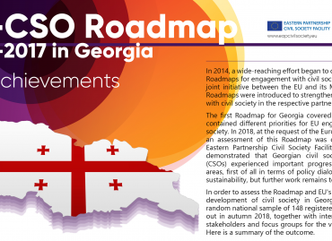 EU-CSO Roadmap 2014-2017 in Georgia: Key Achievements