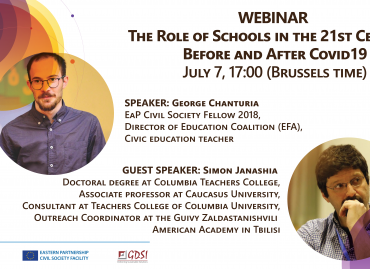 Role of Schools in the 21st Century: Before and After Covid19 / WEBINAR, 07 July 2020