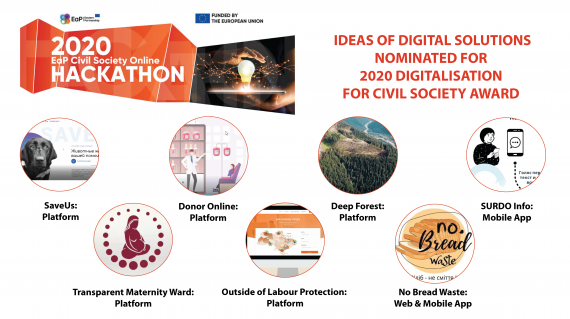7 Ideas of Digital Solutions Nominated for 2020 Digitalisation for Civil Society Award